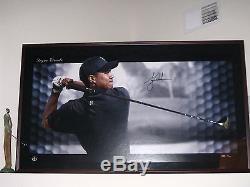 TIGER WOODS AUTOGRAPHED BREAKTHROUGH SHADOWBOX w NIKE IGNITE DRIVER UPPER DECK