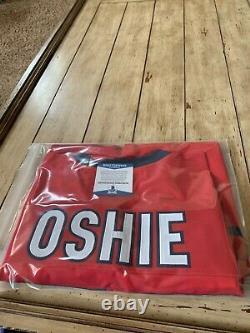 TJ Oshie Autographed/Signed Jersey Beckett Washington Capitals T. J