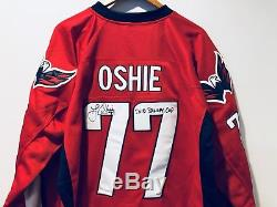 T. J. Oshie 2018 Stanley Cup signed Washington Capitals TJ Autographed Jersey JSA