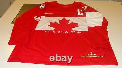 Team Canada 2014 Sidney Crosby Signed Winter Olympics Red Jersey Hockey Auto