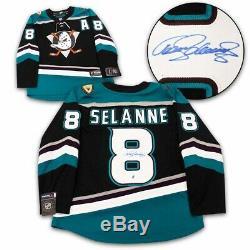 Teemu Selanne Anaheim Ducks Autographed Mighty Ducks Fanatics Hockey Jersey