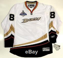 Teemu Selanne Signed 2007 Stanley Cup Anaheim Ducks Rbk Premier Jersey Psa/dna