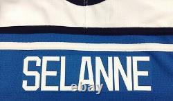 Teemu Selanne Signed Finland Olympics Authentic Jersey Psa/dna Authenticated