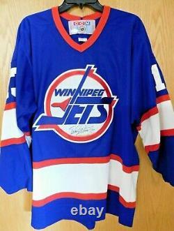 Teemu Selanne Winnipeg Jets Double Signed Replica Jersey JSA Authenticated