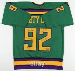 The Mighty Ducks 90s Disney Movie Cast SIGNED Hockey Jersey Collectible XL + COA