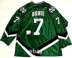 Tj Oshie Signed North Dakota Fighting Sioux Green Jersey Psa/dna Coa Capitals