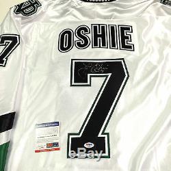 Tj Oshie Signed North Dakota Fighting Sioux White Jersey Psa/dna Coa Capitals
