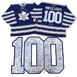 Toronto Maple Leafs Centennial 100 Player Autographed Hockey Jersey LE #/100