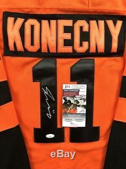 Travis Konecny Signed 2019 Stadium Series Flyers Jersey JSA COA #11 NHL RARE