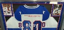 USA Miracle on Ice 1980 Olympic Team Signed Jersey Custom Framed GA GV890741