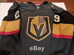 Vegas Golden Knights Marc-Andre Fleury NHL Autographed Black Adidas Jersey COA