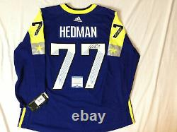 Victor Hedman Signed 2018 NHL All Star Game Adidas Jersey Lightning Bas Coa