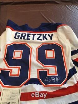 Vintage signed Wayne GRETZKY Autographed Edmonton Oilers Jersey