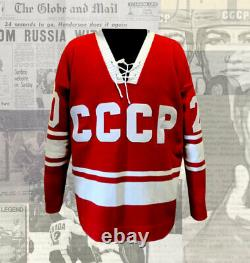 Vladislav Tretiak Team USSR Autographed Wool Jersey