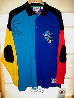 Vtg San Jose Sharks 1st Year Captain Doug Wilson Signed Jersey Shirt-nwt- XL