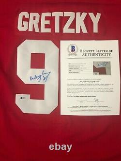 WAYNE GRETZKY #99 Signed Team Canada Cup Jersey Beckett LOA