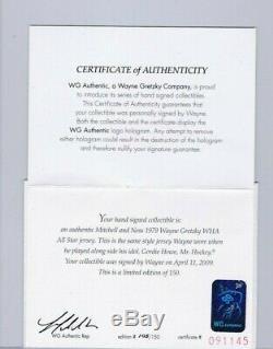 WAYNE GRETZKY GORDIE HOWE 1979 WHA ALL-STAR AUTOGRAPHED JERSEYS WGA #'d 105/150