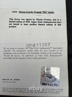WAYNE GRETZKY SIGNED KINGS 802 GOALS Authentic JERSEY UDA LE 237/1000 autograph