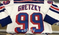 WAYNE GRETZKY Signed Autographed New York Rangers Jersey BAS BECKETT