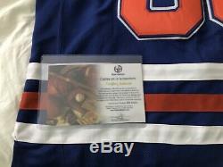 WAYNE GRETZKY Signed Edmonton Oilers Blue Away Jersey Autographed COA GA