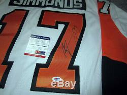 WAYNE SIMMONDS Philadelphia Flyers Autographed SIGNED Hockey Jersey withPSA COA