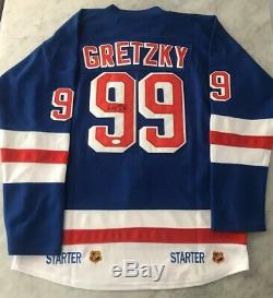 Wayne Gretzky Auto Autograph Signed New York Rangers CCM Starter Jersey Jsa Hof