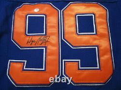 Wayne Gretzky / Autographed Edmonton Oilers Pro Style Hockey Jersey / Coa