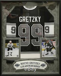 Wayne Gretzky Autographed Framed La Kings Jersey Uda Upperdeck