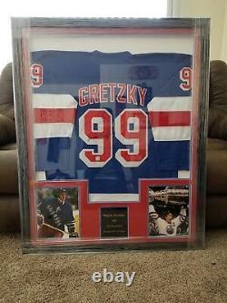 Wayne Gretzky Autographed Jersey framed