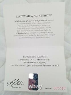 Wayne Gretzky Autographed Mitchell & Ness Oilers Away Jersey WGA