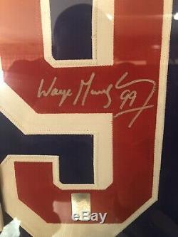 Wayne Gretzky Autographed Rangers Jersey Framed Coa By Wayne Gretzky And Hologra