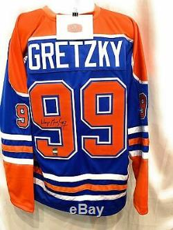 Wayne Gretzky Edmonton Oilers Signed Autograph Custom Jersey WGA Gretzky Authent