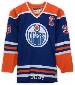 Wayne Gretzky Oilers Signed Blue Hero's of Hockey CCM Jersey Upper Deck