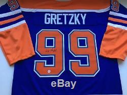 Wayne Gretzky Oilers Signed Jersey COA