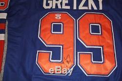 Wayne Gretzky Signed Autographed Auto Edmonton Oilers Jersey Psa/dna Bas Loa