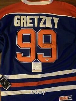 Wayne Gretzky Signed Autographed Edmonton Oilers Custom Jersey Coa Psa/dna