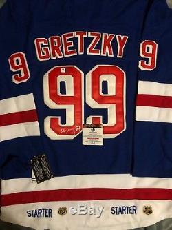 Wayne Gretzky Signed Blue Rangers Jersey (COA)