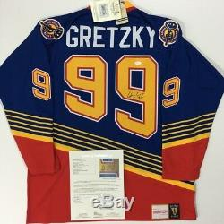 Wayne Gretzky Signed Mitchell & Ness Authentic St. Louis Blues Jersey Oilers Jsa