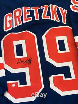 Wayne Gretzky Signed New York Rangers NHL Custom Jersey with COA