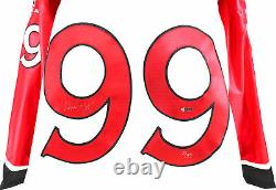 Wayne Gretzky Signed White Team Canada Bauer Jersey with Fight Strap LE #3/99 UDA