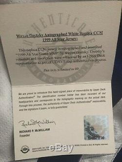 Wayne Gretzky UDA Upper Deck Signed Autograph Inscribed All Star Jersey BOX /99