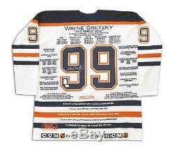 Wayne Gretzky White Career Jersey Signed LTD /99 Edmonton Oilers WGA/UDA