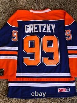Wayne Gretzky signed Edmonton Oilers jersey autograph NHL, COA