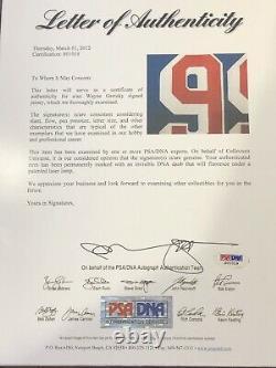 Wayne Gretzky signed NY Rangers jersey framed