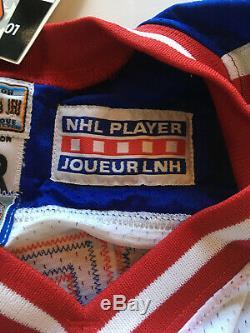 Wayne Gretzky signed Rangers Authentic Starter Jersey Auto Fight Strap UDA COA