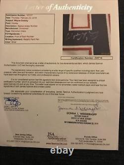 Wayne Gretzky signed framed and Signed Hockey Puck & JerseyJSA