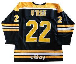 Willie O'Ree Autographed HOF 2018 Boston Bruins Jersey (JSA)