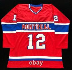 Yvan Cournoyer Signed Autographed Red Hockey Jersey JSA Montreal Canadiens Great