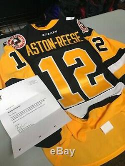 Zach Aston-Reese Game Worn Black Jersey Size 54 With COA Free Shipping