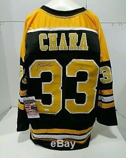 Zdeno Chara Boston Bruins Autographed Signed Black Style Jersey XL coa JSA